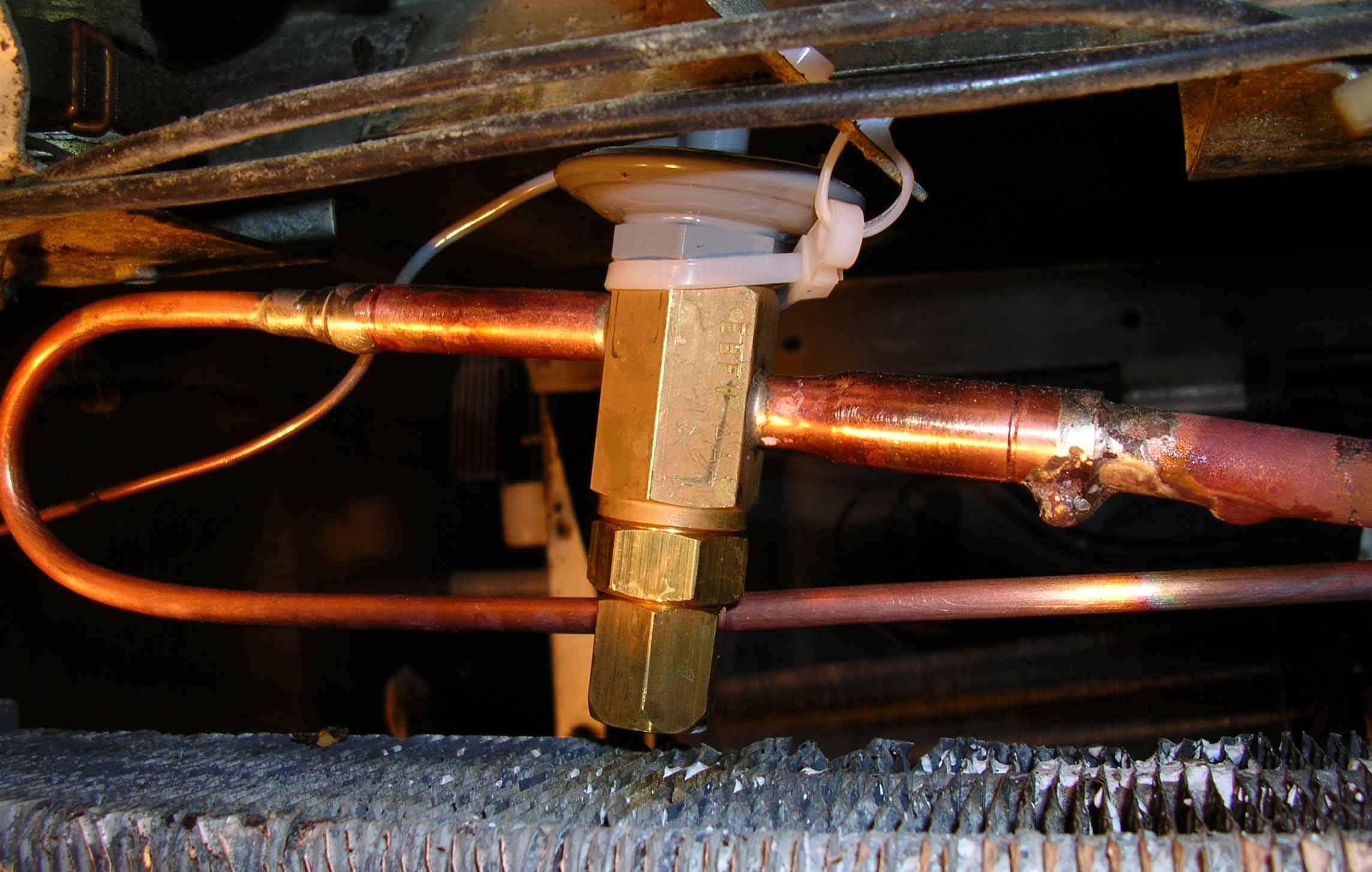 Новый клапан и трубки