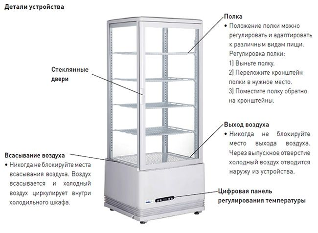 Кондитерский шкаф Hendi