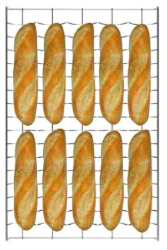 Противень для выпечки Unox Baguette.Grid