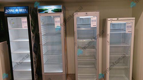 Холодильный шкаф с стеклянной дверцей liebherr