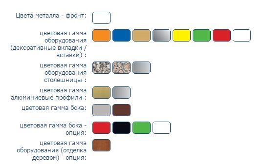 Цветовая гамма кондитерского шкафа