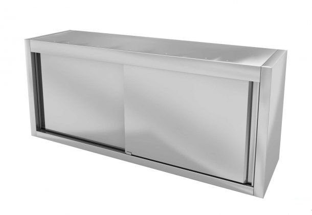 Навесной шкаф с дверями купе