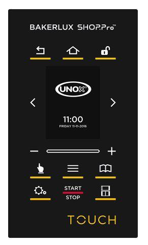 Панель управления TOUCH конвекционной печи Unox