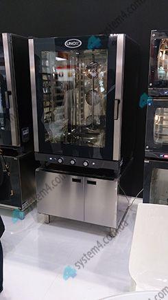 Пароконвектомат с шкафом для сбора жыра unox