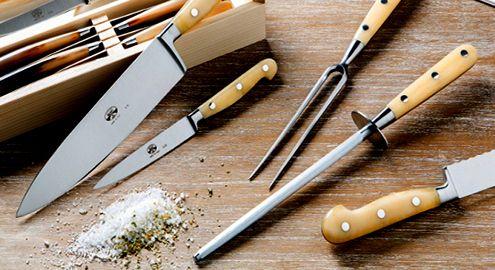Кухонные ножи и мусат