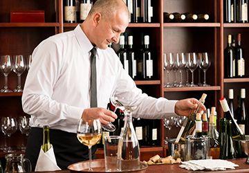 посуда для поддачи вина