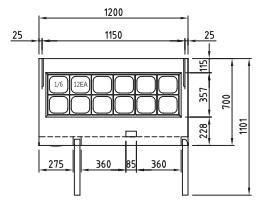 Схема холодильного стола