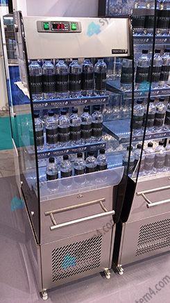 Холодильная горка для линии самообслуживания